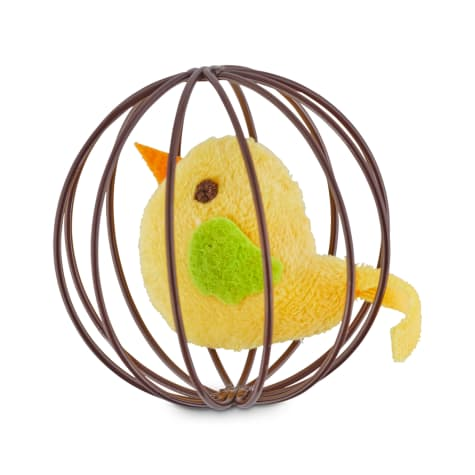 Leaps & Bounds Pounce & Play Chirping Bird Ball Cat Toy