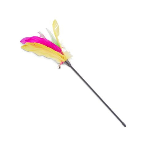 Leaps & Bounds Thrill & Chase Feathered Wand Cat Toy