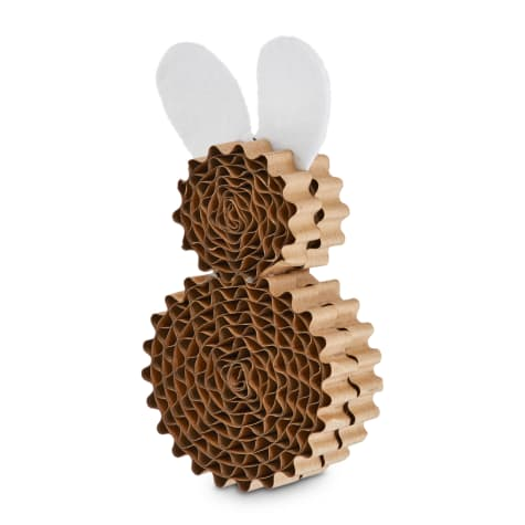 Leaps & Bounds Little Paws Bunny Scratcher Kitten Toy