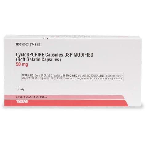 Cyclosporine 50 mg Capsules