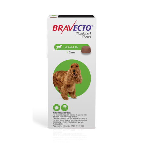 Bravecto Chews for Dogs 22-44 lbs., Single 12-Week Dose