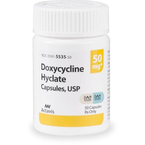 Doxycycline 50 mg Capsules