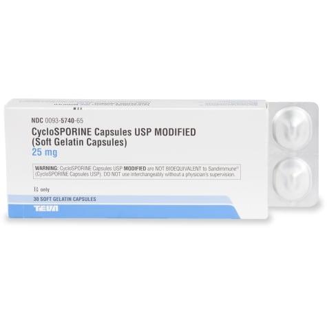 Cyclosporine 25 mg Capsules