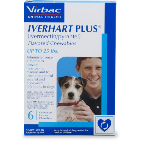 Iverhart Plus Chewable Tablets for Dogs 1 to 25 lbs.