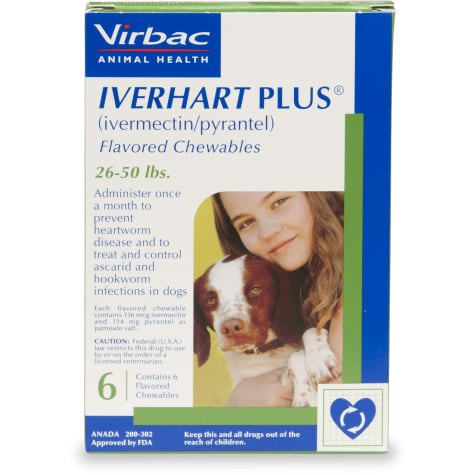 Iverhart Plus Chewable Tablets for Dogs 26 to 50 lbs.