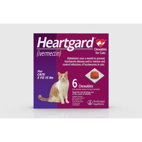 Heartgard Chewables for Cats 5 to 15 lbs.