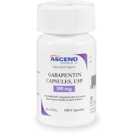 Gabapentin 100 mg Capsules
