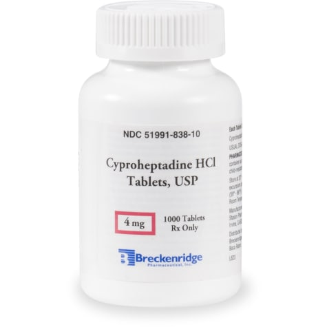 Cyproheptadine HCL 4 mg Tablets