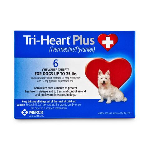 Tri-Heart Plus Chewable Tablets for Dogs 1 to 25 lbs.