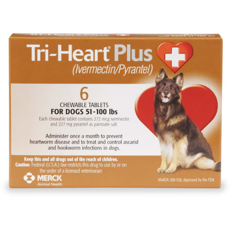 Tri-Heart Plus Chewable Tablets for Dogs 51 to 100 lbs.