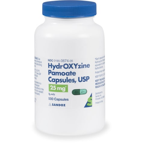 Hydroxyzine Pamoate 25 mg Capsules