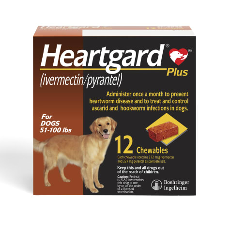 Heartgard Plus Chewables for Dogs 51 to 100 lbs.