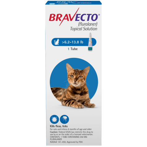 Bravecto Topical Solution for Cats 6.2-13.8 lbs., Single 12-Week Dose
