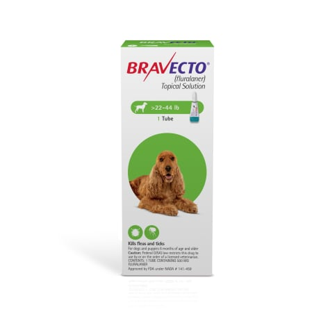 Bravecto Topical Solution for Dogs 22-44 lbs., Single 12-Week Dose