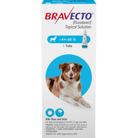 Bravecto Topical Solution for Dogs 44-88 lbs., Single 12-Week Dose