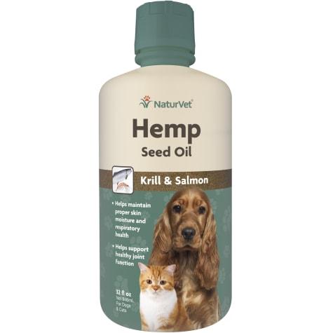 NaturVet Hemp Seed Oil, Krill & Salmon for Pets