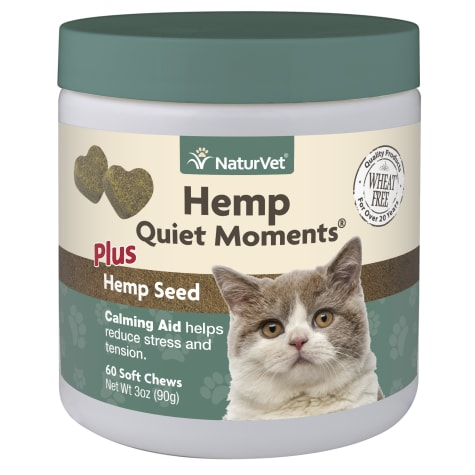NaturVet Hemp Quiet Moments Plus Hemp Seed Soft Chews for Cats