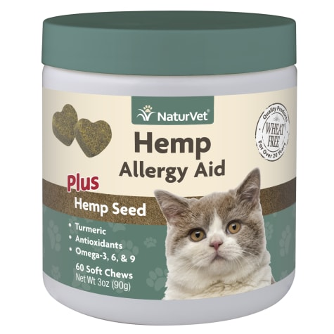 NaturVet Hemp Allergy Aid Plus Hemp Seed Soft Chew for Cats