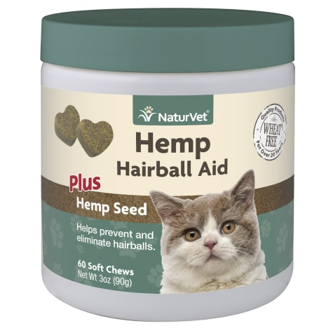 NaturVet Hemp Hairball Aid Plus Hemp Seed Soft Chew for Cats