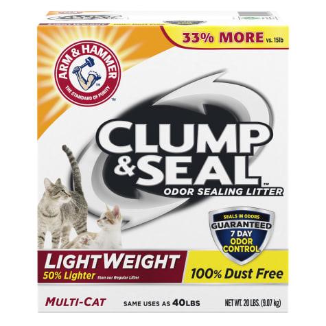 Arm & Hammer Clump & Seal Multi-Cat Lightweight Odor Sealing Cat Litter