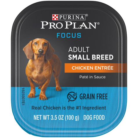 Purina Pro Plan Grain Free, High Protein Small Breed Pate Focus Chicken Entree Wet Dog Food