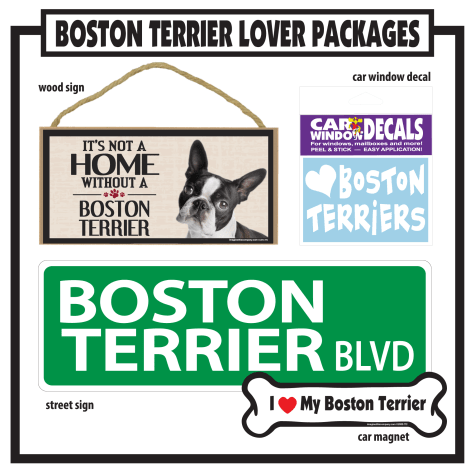 Imagine This Boston Terrier Gift Package