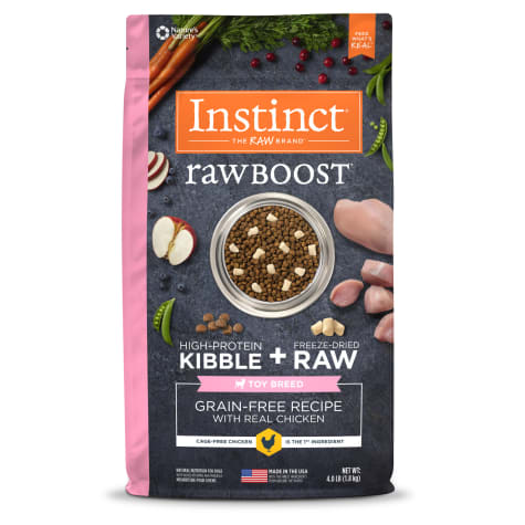Instinct Raw Boost Toy Breed Grain-Free Recipe with Real Chicken Dry Dog Food with Freeze-Dried Raw Pieces