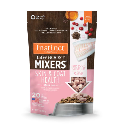 Instinct Freeze Dried Raw Boost Mixers Grain Free Skin & Coat Health Recipe Dog Food Topper by Nature's Variety