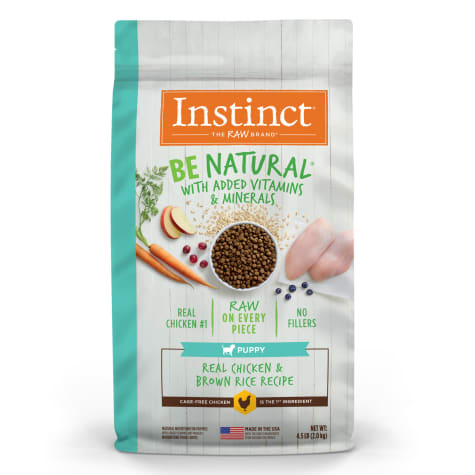 Instinct Be Natural Real Chicken & Brown Rice Recipe Dry Puppy Food by Nature's Variety