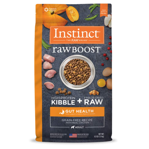 Instinct Raw Boost Gut Health Grain-Free Recipe with Real Chicken Dry Dog Food with Freeze-Dried Raw Pieces