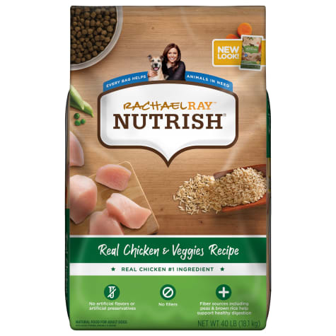 Rachael Ray Nutrish Natural Real Chicken & Veggies Recipe Dry Dog Food