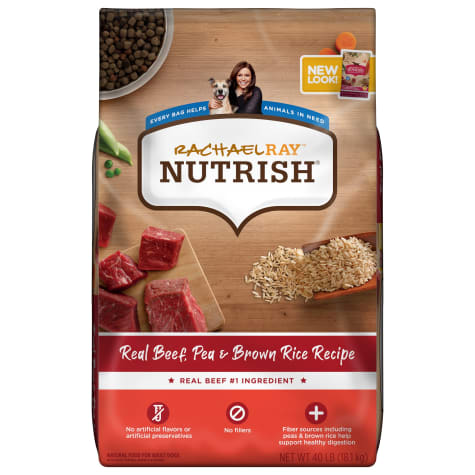 Rachael Ray Nutrish Natural Real Beef, Pea & Brown Rice Recipe Dry Dog Food