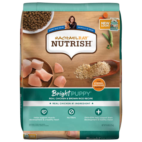 Rachael Ray Nutrish Bright Puppy Natural Real Chicken & Brown Rice Recipe Dry Food