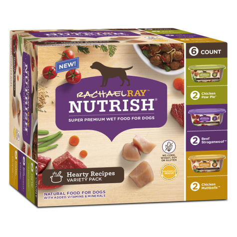 Rachael Ray Nutrish Natural Hearty Recipes Variety Pack Wet Dog Food