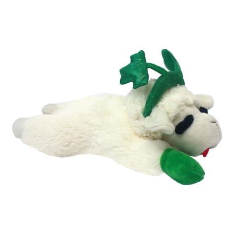 Multipet Lamb Chop with Shamrock Headband Dog Toy