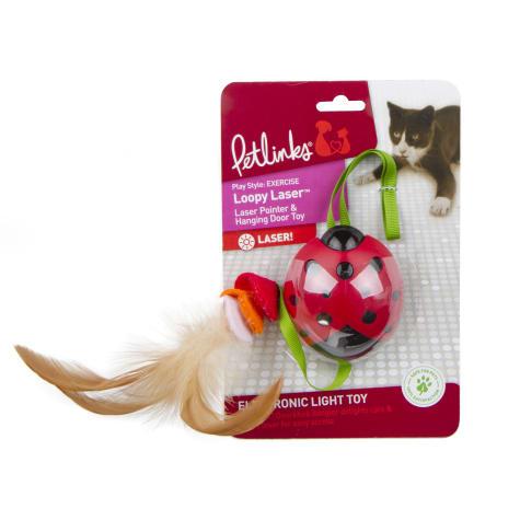 Petlinks Loopy Laser 2 in 1 Laser Pointer Hanging Door Cat Toy