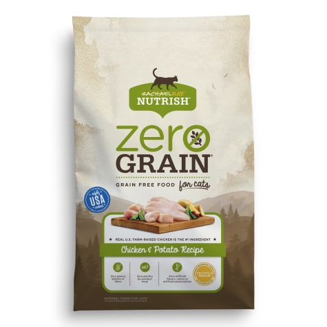 Rachael Ray Nutrish Zero Grain Natural Grain Free Chicken & Potato Recipe Dry Cat Food