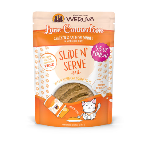 Weruva Pate Love Connection Chicken & Salmon Dinner in a Hydrating Puree Wet Cat Food