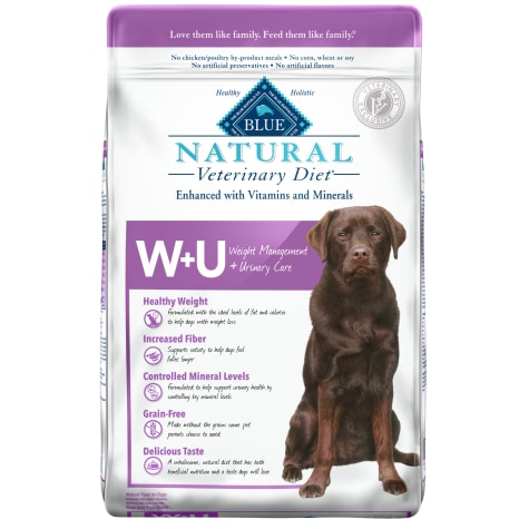 Blue Buffalo BLUE Natural Veterinary Diet W+U Weight Management + Urinary Care Dry Dog Food
