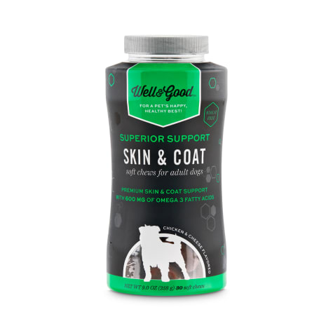 Well & Good Superior Support Skin & Coat Soft Chews for Adult Dogs