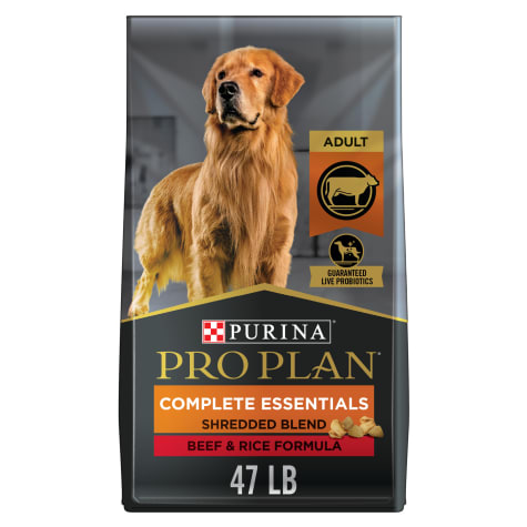 Purina Pro Plan Savor Shredded Blend Beef & Rice Formula With Probiotics Dry Dog Food