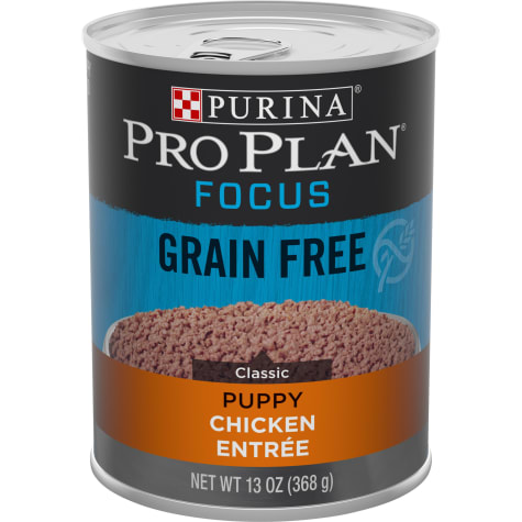 Purina Pro Plan Grain Free, High Protein Focus Classic Chicken Entree Wet Puppy Food