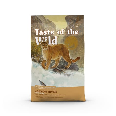 Taste of the Wild Canyon River Grain-Free Trout & Smoked Salmon Dry Cat Food