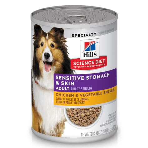 Hill's Science Diet Adult Sensitive Stomach, Skin Chicken & Vegetable Entree Canned Dog Food