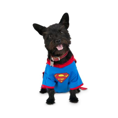 DC Comics Justice League Superman Dog T-Shirt With Removable Cape