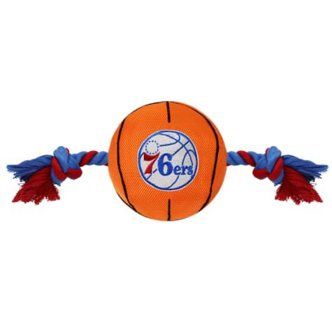Pets First NBA 76ERS Nylon Basketball Rope Toy for Dogs