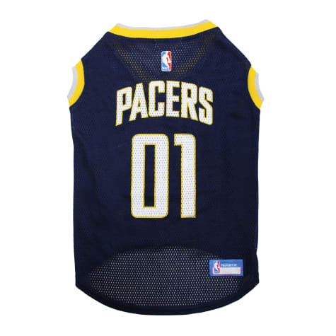 Pets First NBA Indiana Pacers Basketball Mesh Dog Jersey