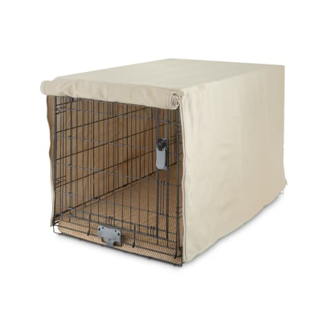 You & Me Tan Dog Crate Cover