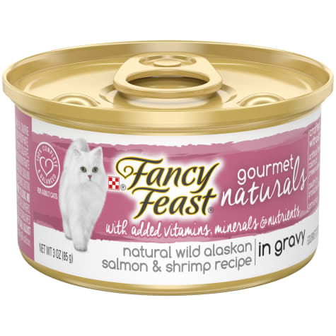 Fancy Feast Gourmet Naturals Wild Alaskan Salmon & Shrimp in Gravy Wet Cat Food