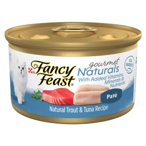 Fancy Feast Gourmet Naturals Grain Free, Natural Pate Trout & Tuna Recipe Wet Cat Food